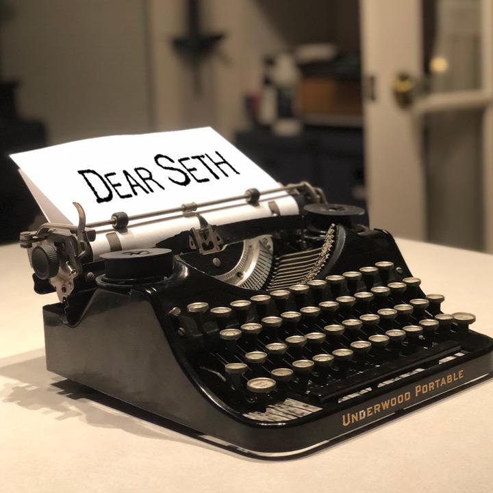 Dear Seth antique typewriter