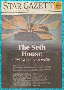 Star-Gazette newspaper cover The Seth House